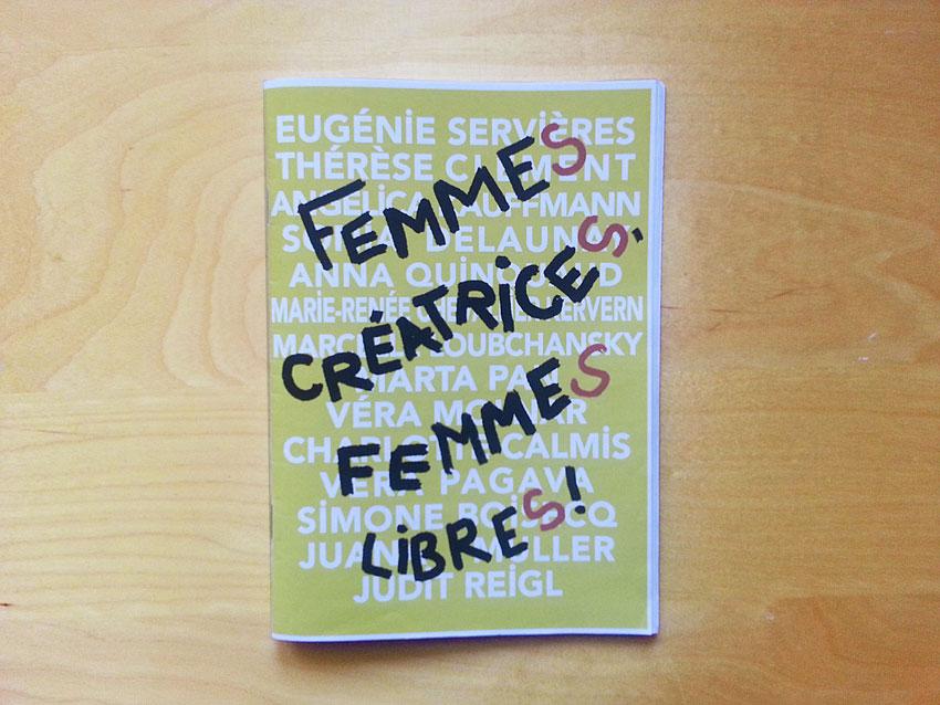 Livret [Femmes créatrices, femmes libres], collection Experientia, Marie-Claire Raoul