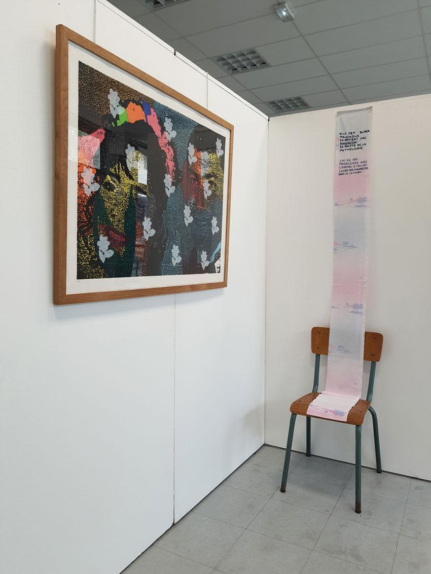 Vue de l'exposition [Nous qui avons une histoire] à la Maison des syndicats à Brest les 19 et 20 septembre 2020, Marie-Claire Raoul