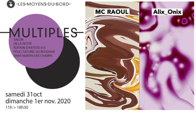 Visuel pour le salon de la petite édition Multiples #15 à St Martin des Champs les 31 octobre et 1er novembre 2020