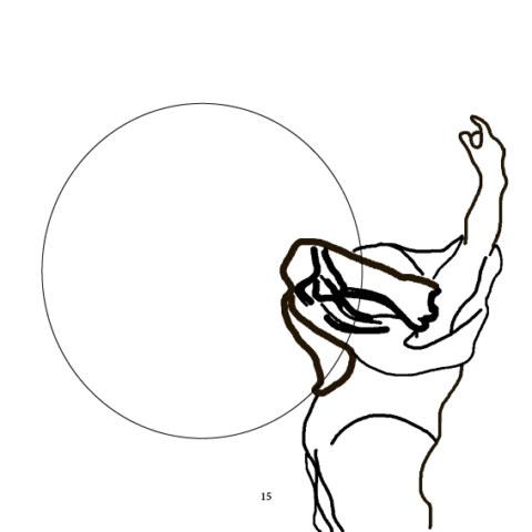 Portfolio [Prenez et mangez. mai-juin. Corps pense], édition de l'artiste Marie-Claire Raoul, éditions IFFS, dessin Caroline Denos,novembre 2020