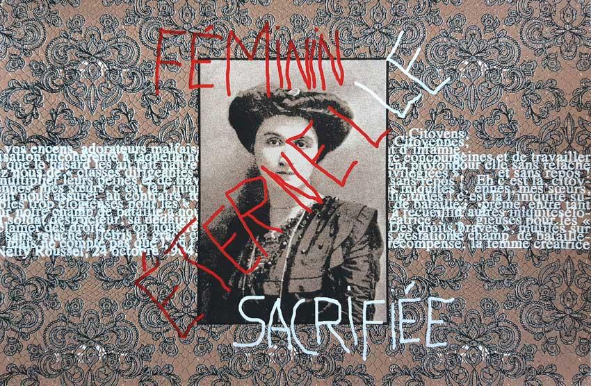 Sérigraphie, Feminin éternel-le sacrifiée, Marie-Claire Raoul